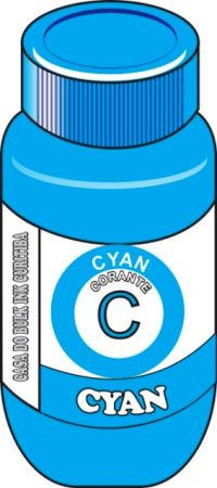 TINTA CORANTE  BROTHER CYAN (CIANO,CYAN) SENSIENT 100,250,500,1000ML