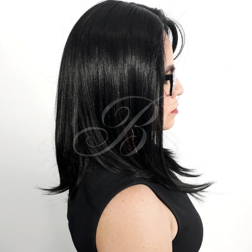 Peruca Lace Front Nelly cor 1B - Fibra Japonesa Equal - BellaHair V