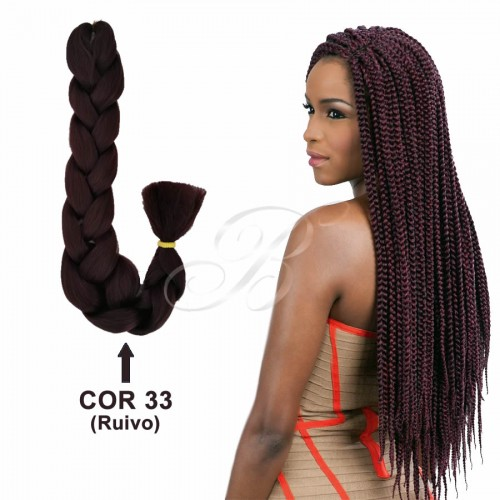Kanekalon Jumbo Rainhas Braid - Cor 33 (60 cm) - Havana Braid Sleek