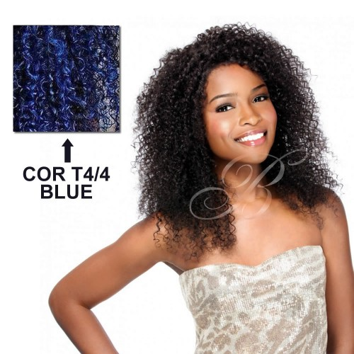 Fibra Japonesa Super Bohemian Top Tecido Cacheado - Cor T4/4BLUE (40 cm) - Fashion Idol