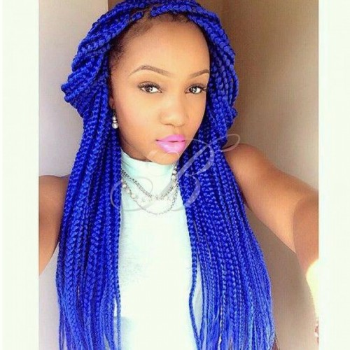 Kanekalon Jumbo Rainhas Braid - Cor BLUE1 (60 cm) - Havana Braid Sleek