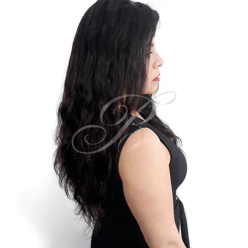 LACE WIG Natural Gabriela cor 1B (60 cm) - Modelo Exclusivo - Bella Hair VI