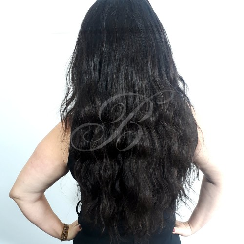 LACE WIG Natural Gabriela cor 1B (60 cm) - Modelo Exclusivo - Bella Hair VII