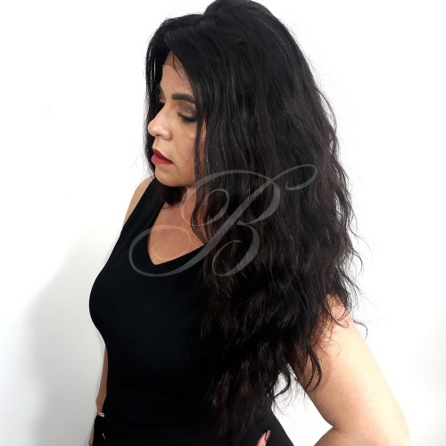 LACE WIG Natural Gabriela cor 1B (60 cm) - Modelo Exclusivo - Bella Hair IV