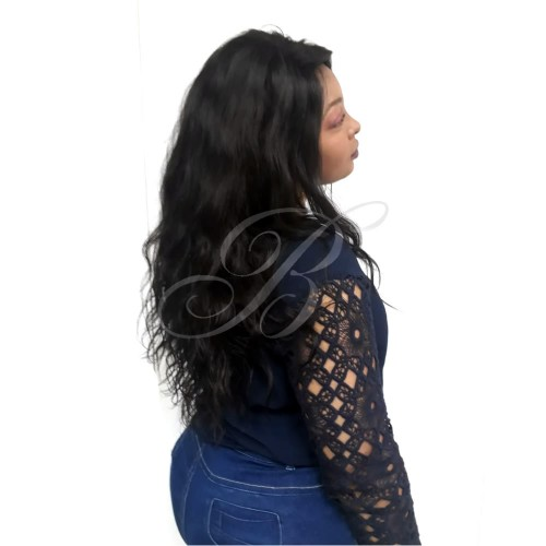 LACE WIG Natural Gabriela cor 1B (60 cm) - Modelo Exclusivo - Bella Hair III