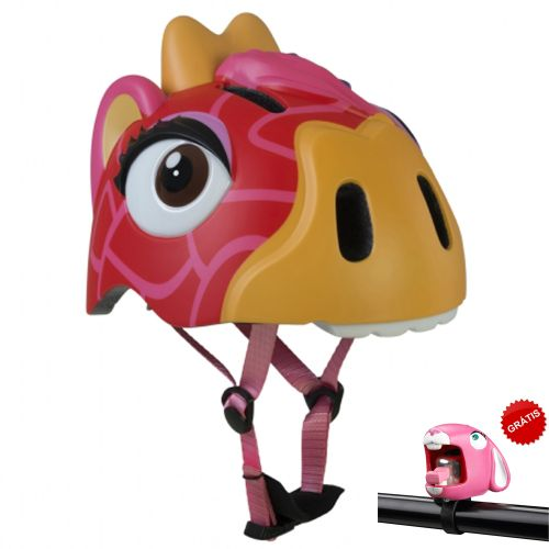 Capacete Infantil com LED Red Giraffe 49 a 55 cm - Crazy Safety
