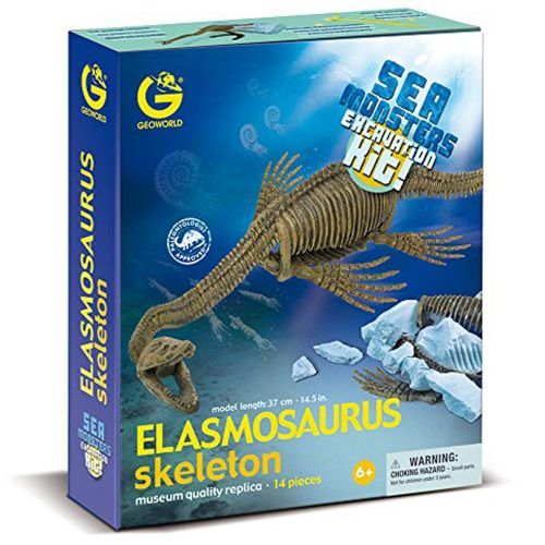 Kit Escavação Elasmossauro - Sea Monsters - Geoworld