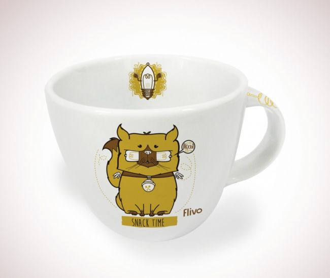 Caneca balaio - Cat snack time