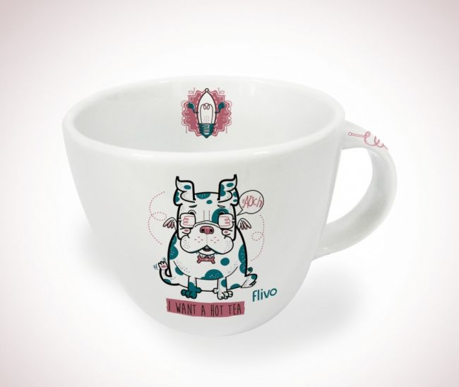 Caneca balaio - Dog tea time