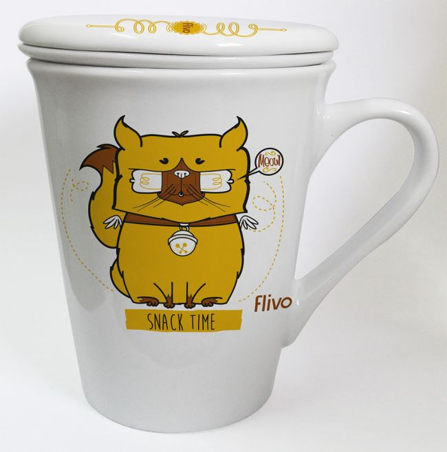 Caneca infusora Cat snack time