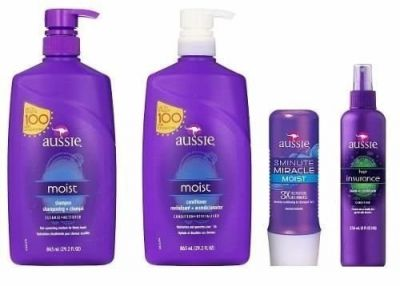 Aussie Kit Shampoo e Condicionador 865ml + Mascara Moist e Leave-in