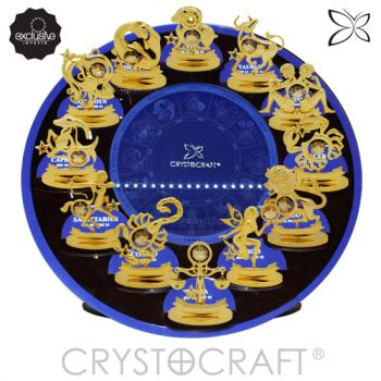 Display CRYSTOCRAFT Com os 12 Signos do Zodíaco