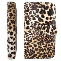Carteira para Celular Samsung Galaxy S4 Mini Onça (Animal Print)