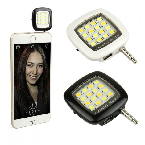 Kit Flash - Mini Flash Led e Capa Transparente para Celular Moto G3  - foto principal 1