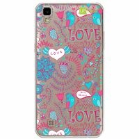 Capa Capinhas para Celular Lg X Power Love Flores - UP Case - Exclusividade