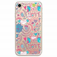 Capa Capinhas para Celular Iphone 7 Love Flores - UP Case - Exclusividade