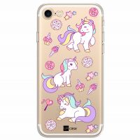 Capa Capinhas para Iphone 7 Unicornis Arco Iris - UP Case - Exclusividade