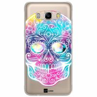 Capa Capinhas para Samsung Galaxy J7 Metal J710 Caveira Multicor - UP Case - Exclusividade