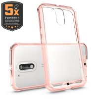 Capa Capinha para Motorola Moto G4 Plus Air Hybrid Anti Impacto Rosa - Up Case