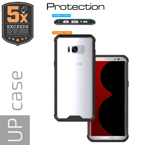 Capa para Celular Samsung Galaxy S8 Plus Air Hybrid Preta - Up Case  - foto principal 1