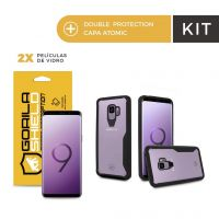 Kit Capa Atomic e Película de Nano Gel Dupla para Galaxy S9 - Gorila Shield
