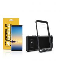 Kit Capa Ultra Slim Air Preta e Película Nano Gel dupla para Samsung Galaxy Note 8 - Gorila Shield
