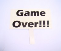 Placa decorativa '' Game Over!!! ''