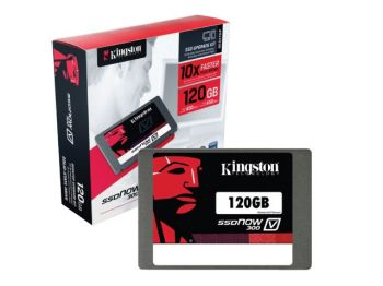 SSD KINGSTON V300 120GB 2.5'' SATA III C/ KIT DESKTOP SV300S3D7/120G