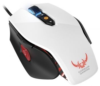 MOUSE CORSAIR LASER GAMING OPTICAL RGB M65 BRANCO 8200 DPI CH-9000071-NA