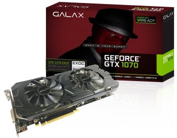 PLACA DE VIDEO GALAX GTX 1070 EXOC 8GB GDDR5 256BIT 70NSH6DHL4EC