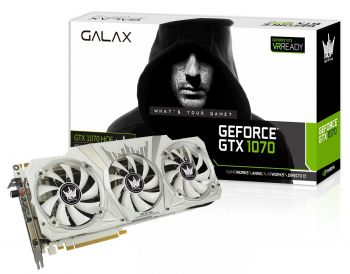 PLACA DE VIDEO GALAX GTX 1070 HOF LIMITED EDITION 8GB GDDR5 256BIT 70NSH6DHL2OH