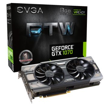PLACA DE VIDEO EVGA GTX 1070 FTW GAMING ACX 3.0 8GB GDDR5 256BIT 08G-P4-6276-KR
