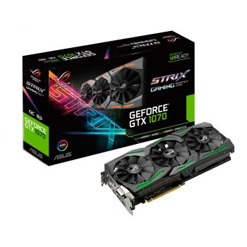 PLACA DE VIDEO ASUS GTX 1070 STRIX OC 8GB GDDR5 256BIT STRIX-GTX1070-O8G-GAMING