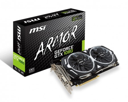 PLACA DE VIDEO MSI GTX 1080 ARMOR OC 8GB GDDR5X 256BIT  - foto principal 1