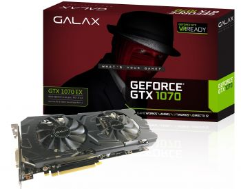 PLACA DE VIDEO GALAX GTX 1070 EX 8GB DDR5 256BITS 70NSH6DHL4XE