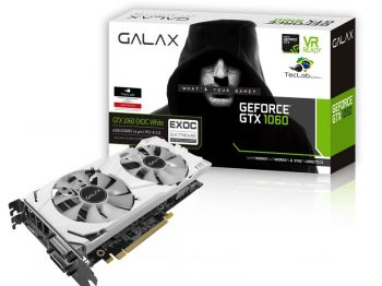 PLACA DE VIDEO GALAX GTX 1060 EXOC WHITE TECLAB 6GB DDR5 192BITS 60NRH7DVM3VW