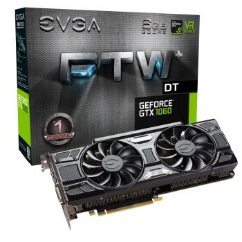 PLACA DE VIDEO EVGA GTX 1060 FTW+ DT GAMING ACX 3.0 6GB DDR5 192BITS 06G-P4-6366-KR