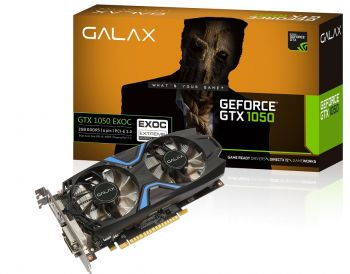 PLACA DE VIDEO GALAX GTX 1050 EXOC 2GB GDDR5 128BITS 50NPH8DVN6EC