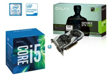 COMBO PROCESSADOR INTEL I5-6400 LGA 1151 + PLACA DE VIDEO GALAX GTX 1060 OC DUAL FAN 3GB 60NNH7DSL9C3