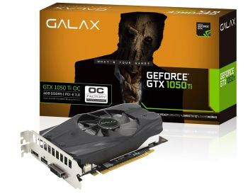 PLACA DE VIDEO GALAX GTX 1050 TI OC 4GB DDR5 128BIT 50IQH8DSN8OC