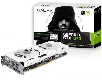 PLACA DE VIDEO GALAX GTX 1070 EXOC SNPR WHITE TECLAB 8GB DDR5 256BITS 70NSH6DHN1WS