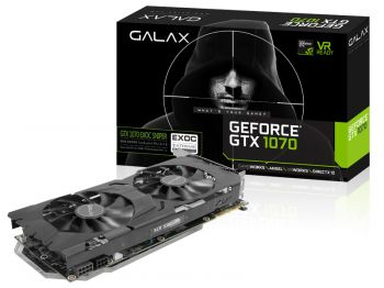 PLACA DE VIDEO GALAX GTX 1070 EXOC SNPR BLACK RGB 8GB DDR5 256BIT 70NSH6DHM9ES