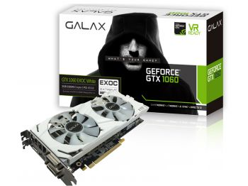 PLACA DE VIDEO GALAX GTX 1060 EXOC WHITE 3GB DDR5 192BIT 60NNH7DVM3NW