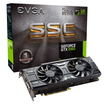 PLACA DE VIDEO EVGA GTX 1060 SSC 3GB 192BIT 03G-P4-6167-KR