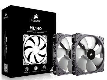 FAN CORSAIR ML140 PRO 140MM TWIN PACK C/ 02 UND CO-9050044-WW