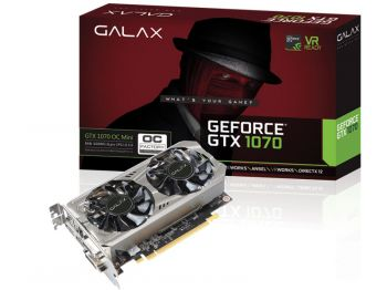 PLACA DE VIDEO GALAX GTX 1070 OC MINI 8GB DDR5 256BIT 70NSH6DVO5MN
