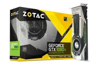 PLACA DE VIDEO ZOTAC GTX 1080 TI FOUNDERS EDITION 11GB GDDR5X 352BITS ZT-P10810A-10P