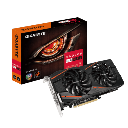PLACA DE VÍDEO GIGABYTE RX 580 GAMING 4GB GDDR5 256BIT GV-RX580GAMING-4GD  - foto principal 1