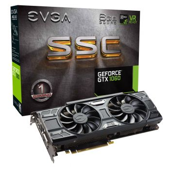 PLACA DE VIDEO EVGA GTX 1060 SSC 6GB DDR5 192BIT 06G-P4-6267-KR