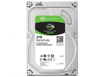 HDD SEAGATE BARRACUDA 3TERA 7200RPM 64MB 6GB/S SATA ST3000DM008